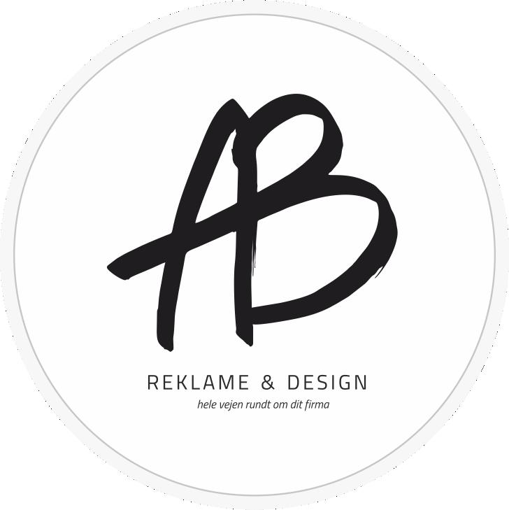 AB Reklame og design - hele vejen rundt om dit firma - logo rund